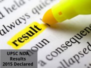 UPSC NDA Results 2015 Declared