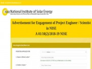 NISE Recruitment 2019 For Sr. Project Engineer, Scientists; Earn Up To INR 60,000 Per Month