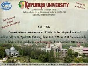 Karunya University To Conduct KEE 2012