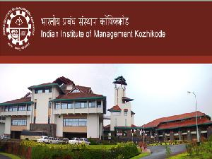 IIM-K Fee Structure Reduced For Students