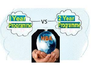 Comparision b/w 1 Year and 2 Year MBA
