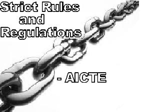 AICTE's Regulations On Engg Colleges