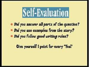 Self-Evaluation To Be Faced By Students