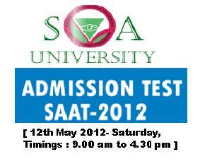 SAAT-2012 Entrance Test Dates Announced.