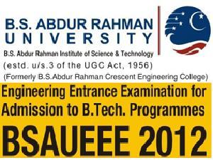BSAR University Conducts BSAUEEE-2012