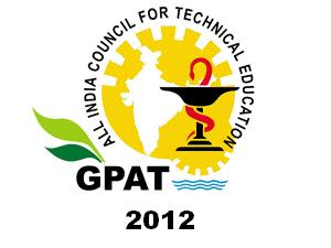 GPAT- 2012 Entrance Exam Dates Announced
