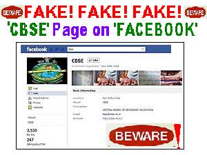 Students Be Aware- Fake CBSE Page On FB