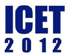 ICET 2012 on May 18, 2012