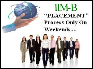 Placements 2012,Only On Weekends : IIM-B