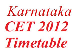 Karnataka CET 2012 Entrance on May