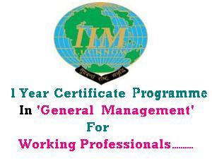 IIM-L Offers 1Year Certificate Programme
