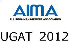 AIMA UGAT 2012 on May 12