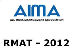 RMAT 2012 on May 12 By AIMA-CME & AMU