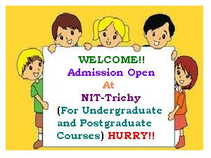 NIT Trichy - Seats Available For UG/PG
