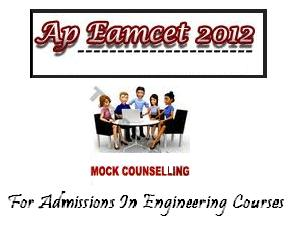 EAMCET 2012 Mock Counselling