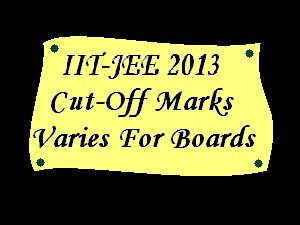Variation In IIT-JEE 2013 Cut-off Marks