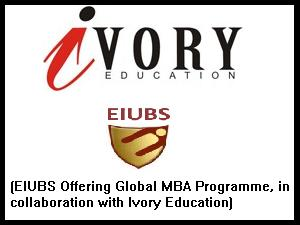 Ivory Education &EIUBS Offers MBA Prgm
