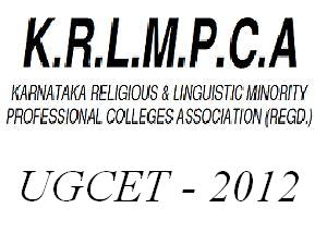 KRLMPCA UGCET 2012 Counseling Schedule