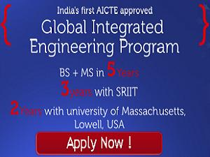 BS and MS Admission at SRIIT, Hyderabad
