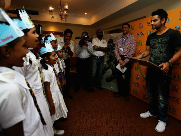 Virat Kohli's Conversation with Children's