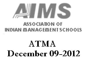 AIMS Conducts ATMA 2012 On 9th December