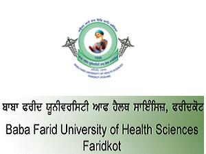 UG Courses Admission at BFUHS, Faridkot