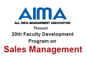 Sales Management Program at Kolkata