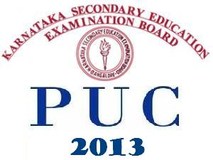 Karnataka SecondPU 2013 Casual Timetable