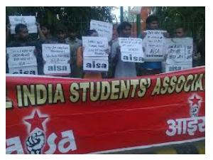 Students Protest Against Fee Hike