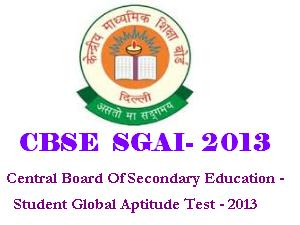 CBSE SGAI 2013 Notification