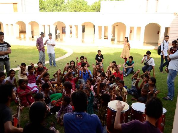Children enjoyed the music and dance