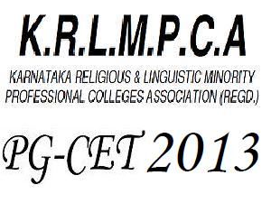 PG-CET 2013 Online Application available