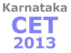 Karnataka CET 2013 for Engg & Medical