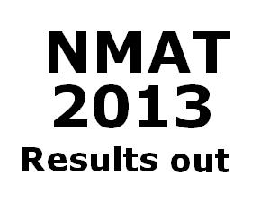 NMAT 2013 Results Declared