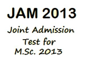 JAM 2013 admit card and Exam centre