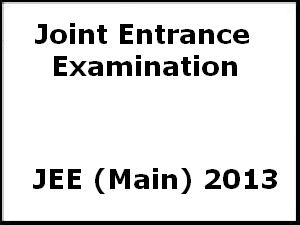JEE Main 2013 Online selection of slots