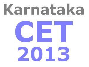 Karnataka CET 2013 time table