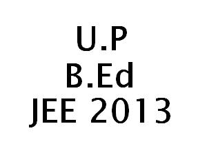 UP B.Ed JEE2013 Online application form