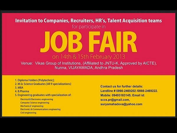 Job Fair At Vikas Group of Institutions
