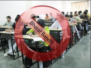 Students Upset Of Bandh- Change Of Exams