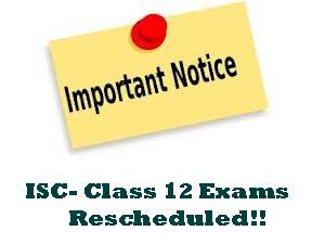 ISC 2013: Class 12 Exams Rescheduled