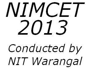 NIMCET 2013 Online Application form