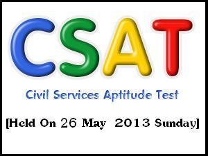CSAT 2013 Syllabus & Exam Pattern