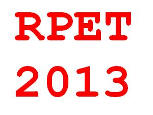 RPET 2013 Entrance Exam on May 23