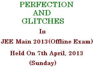JEE Main Offline Exam Held With Glitches