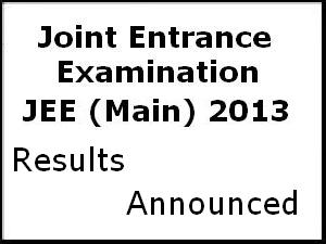 JEE Main 2013 results announced