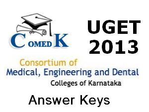 ComedK UGET 2013 Answer Keys