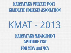 Karnataka Management Aptitude Test 2013