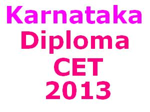 Online Application for Karnataka Diploma CET 2013