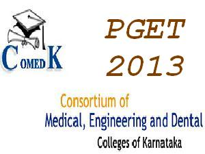 Comedk PGET 2013 Counselling Schedule